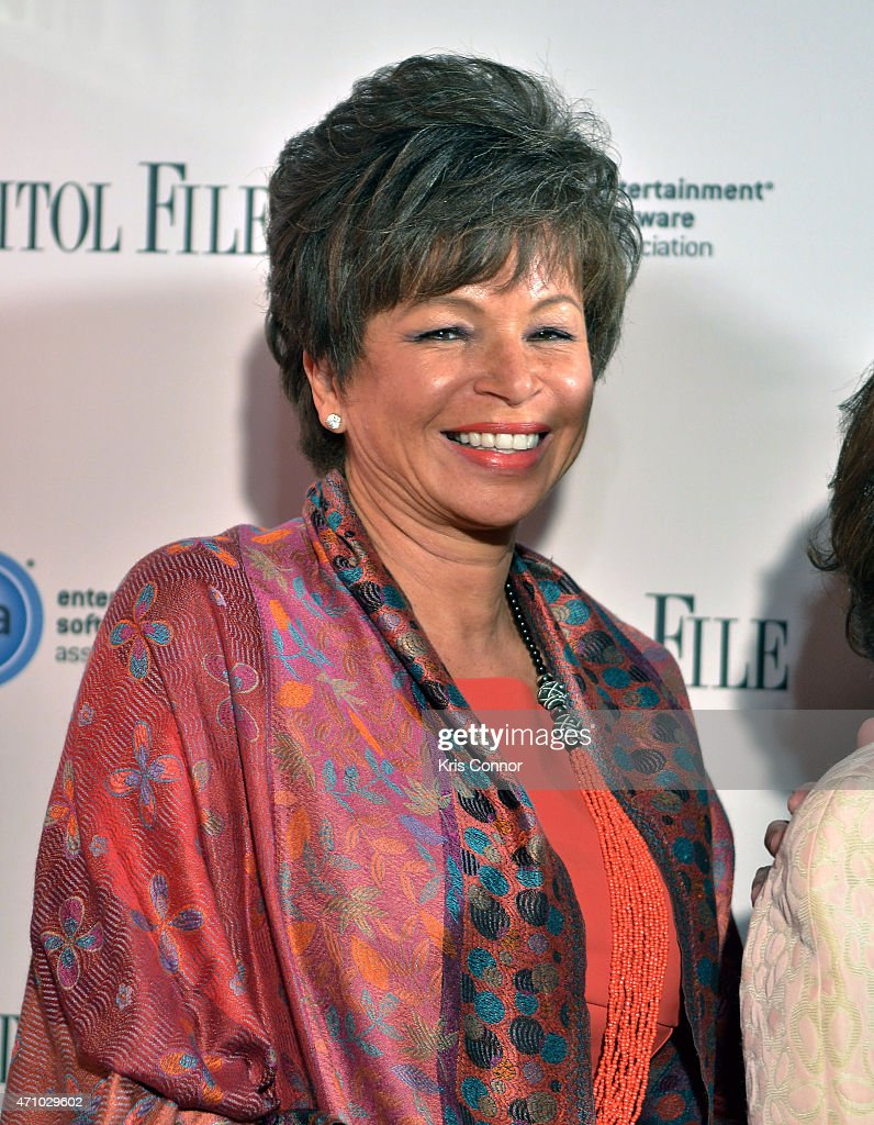Senior Advisor to the President of the United States Valerie Jarrett attends Capitol File's WHCD Weekend Welcome Reception with Cecily Strong at The...