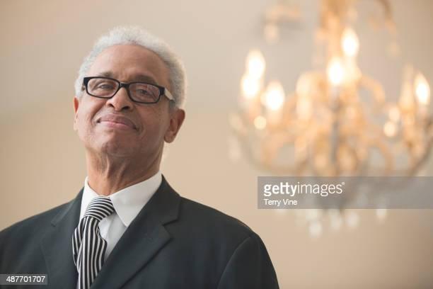 Senior African American businessman smiling