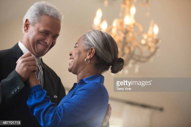 Senior African American couple dancing