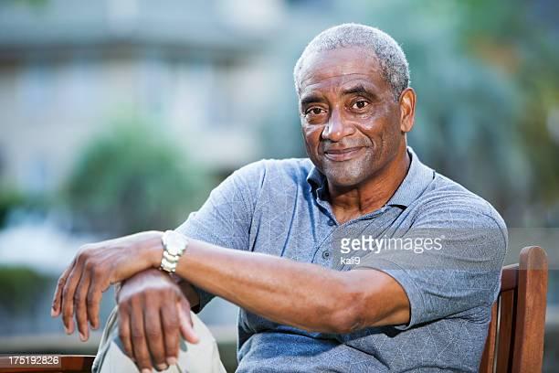 Senior afrikanischen amerikanischen Mann