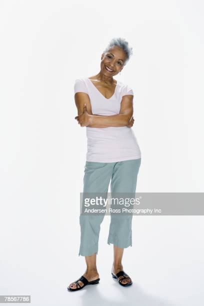 Senior African American woman with arms crossed
