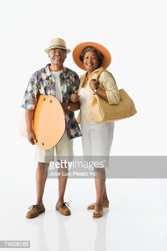 Senior African couple on vacation : Bildbanksbilder