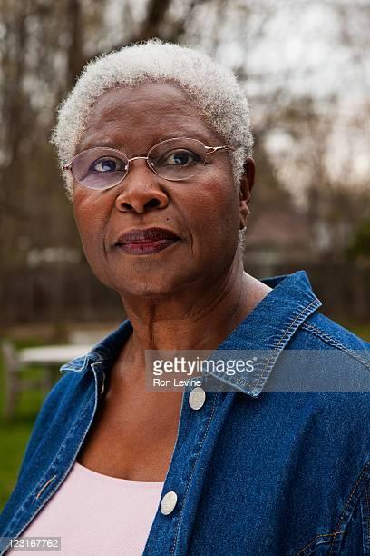 senior african-american woman, portrait