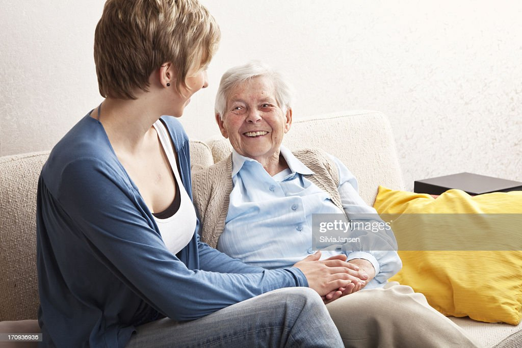 senior and young woman together