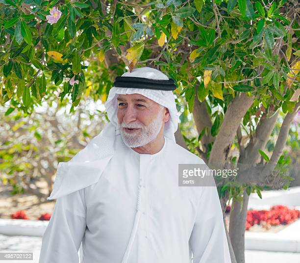 Senior Arab man in portrait