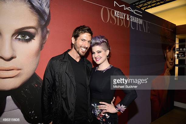 Senior Artist John Stapleton and Kelly Osbourne attend the launch of the MAC Kelly Osbourne Collection at the MAC PRO North Robertson Store on June 2...