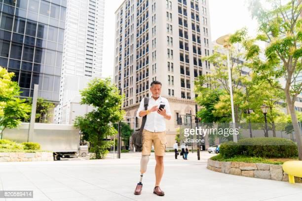 携帯電話を用いた屋外上級アジア切断