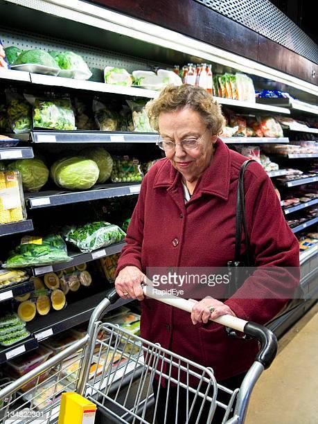 Senior at the supermarket
