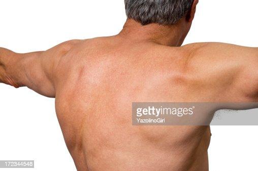 Senior Athlete - Upper Back (clipping path) : Stock Photo