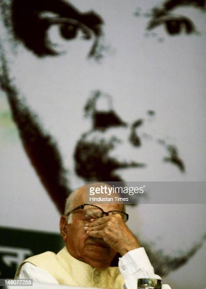 Senior BJP leader L K Advani attends an event to celebrate the birth anniversary of Dr Shyama Prasad at IIC on July 9 2012 in New Delhi India Dr...