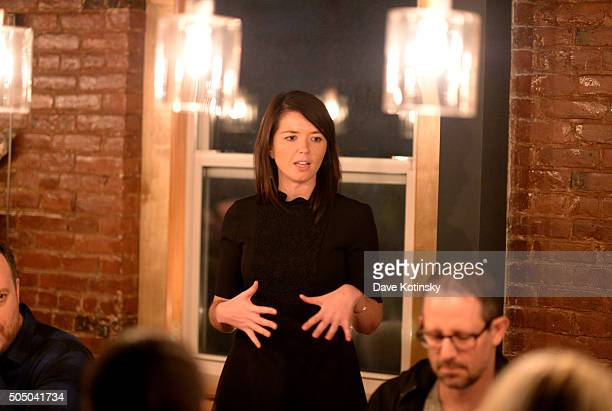 Senior Brand Manager at Pernod Ricard USA Bridget O'Lone at The Glenlivet Burns' Night Supper at New York City's The Kitchen Table on January 14 2016...