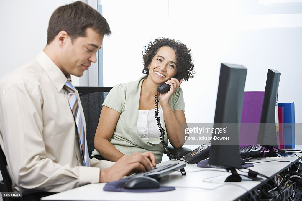 A senior business woman at work : Stock Photo