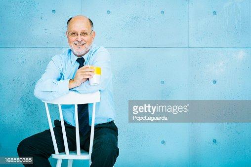 Senior Empresário : Foto de stock