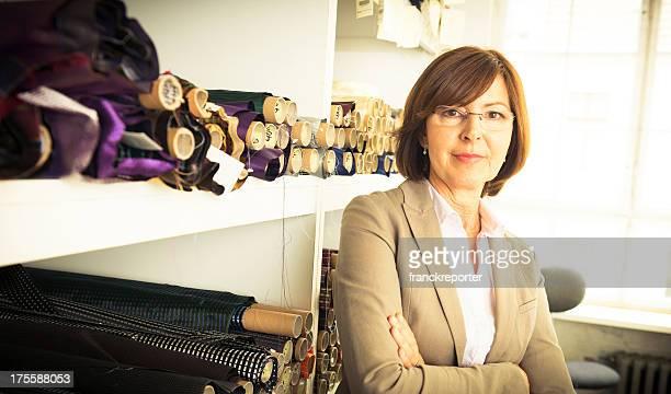 Senior businesswoman boss portrait