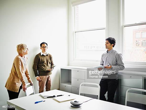 Senior businesswoman leading project discussion