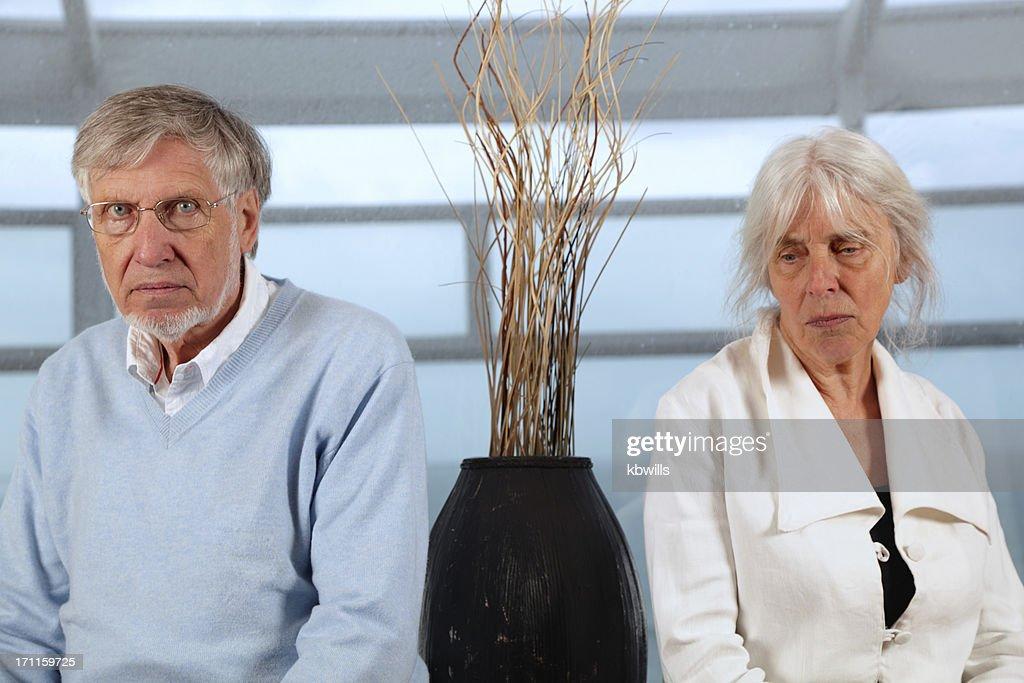 senior caucasian  couple have relationship problems