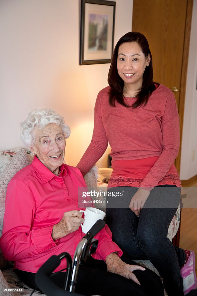 Senior Citizen and Caregiver : Stock Photo