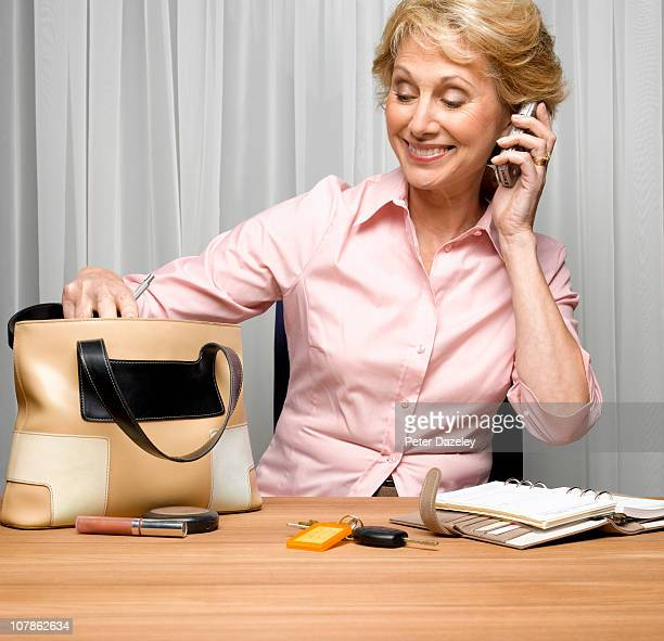 Senior citizen multitasking
