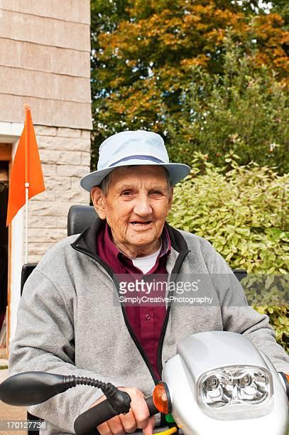 Senior Citizen on Electric Vehicle