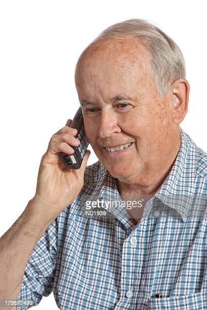 Senioren auf Telefon