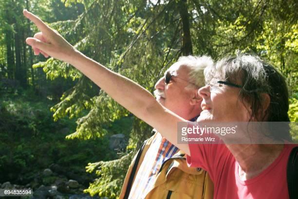 Senior couple admiring natural beauty