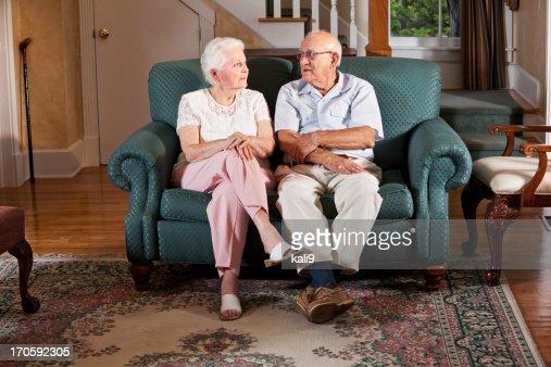 Altes Paar zu Hause