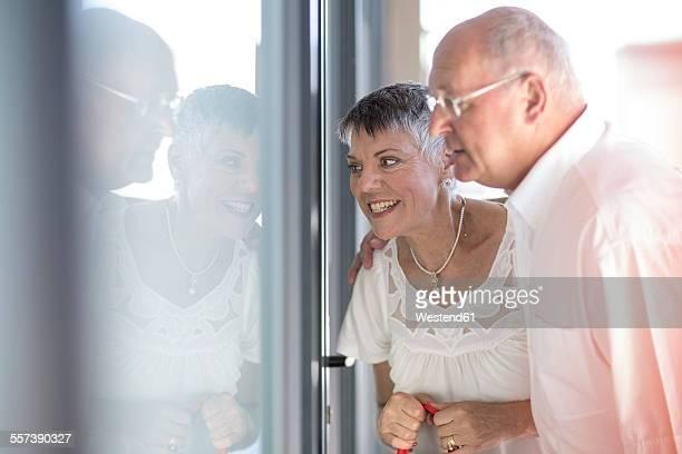 Senior couple at shopping tour