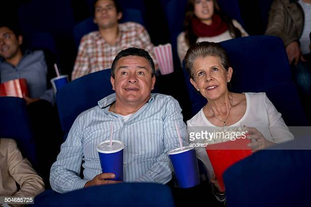 Senior couple at the movies