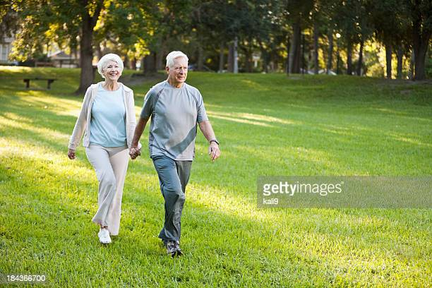 Senior couple at the park