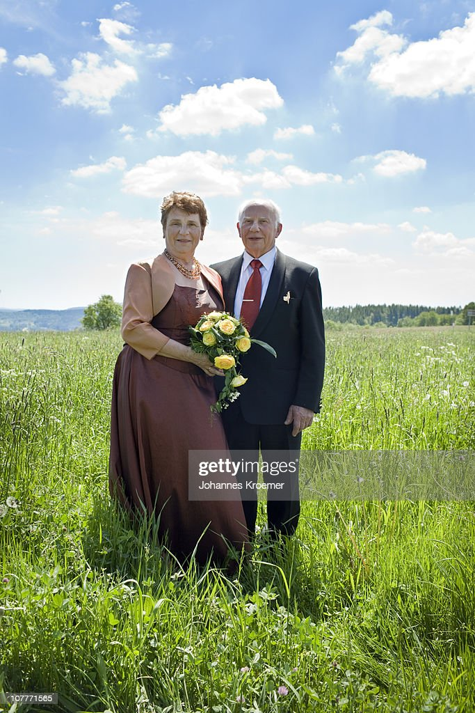 Senior Couple at their Golden Wedding Anniversary