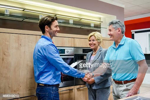 Senior Couple Buying A New Kitchen