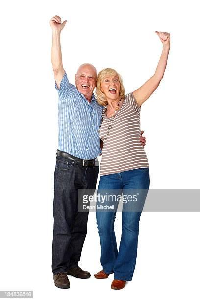 Senior Couple Celebrating - Isolated