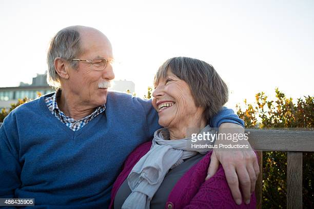 Senior Couple During Evening Sun