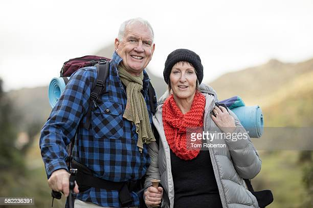 Senior couple during hike