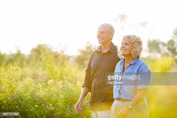 Senior Couple Enjoying Nature