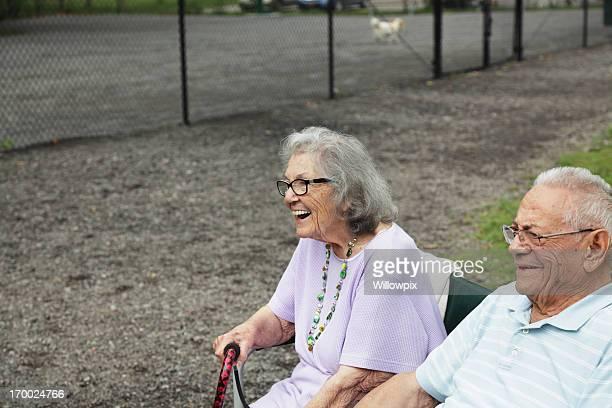 Senior Couple Enjoying the Dog Playground