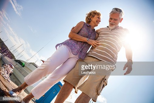 Senior couple having a great day : Stock Photo