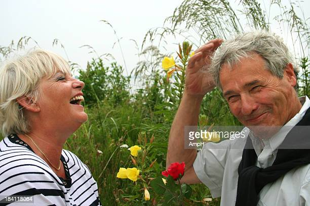 Senior couple having fun Outdoors