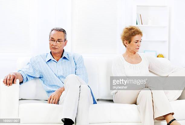 Senior couple having relationship crisis