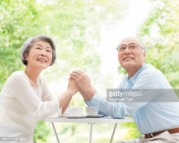 Senior Couple Having Tea