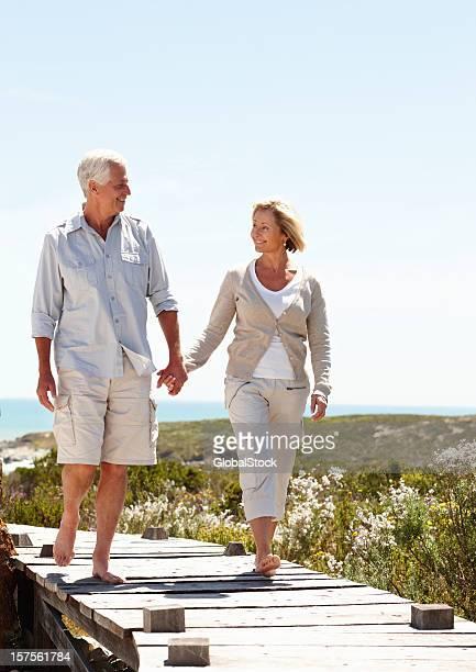 Feliz Casal de idosos desfrutar de suas férias reforma