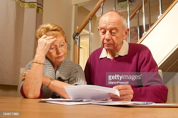 senior couple in financial worry