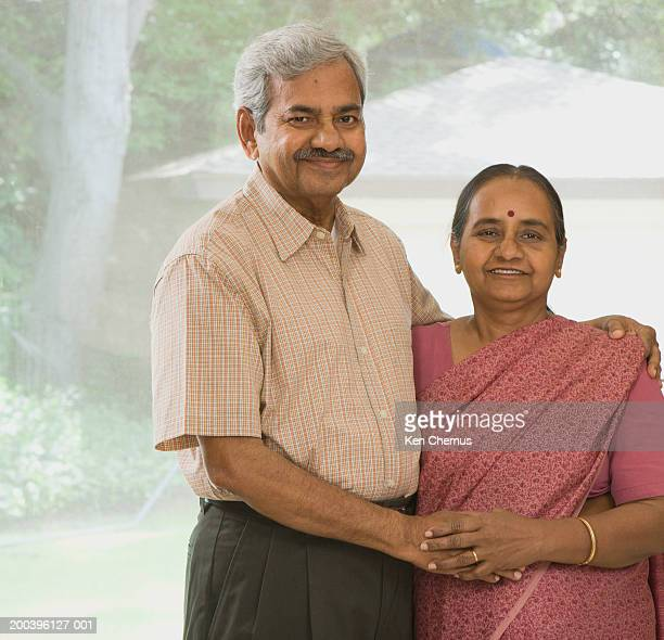 Senior couple in home, portrait