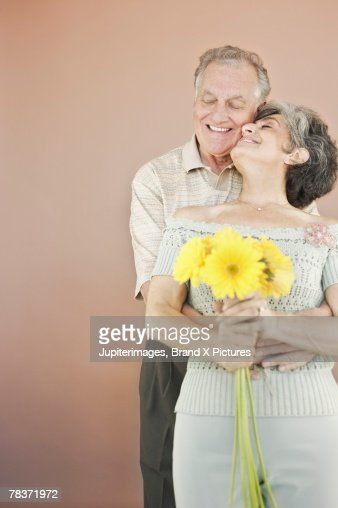 senior couple in intimate pose stock photo getty images