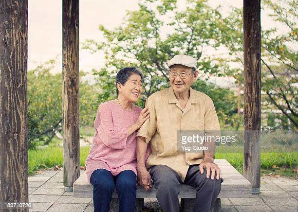 A senior couple in kyoto,Japan