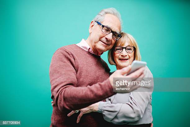 Senior couple en amour