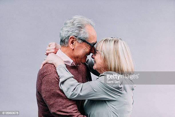 Senior couple en amour