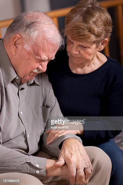 Senior Couple in Stress (Grief Series)