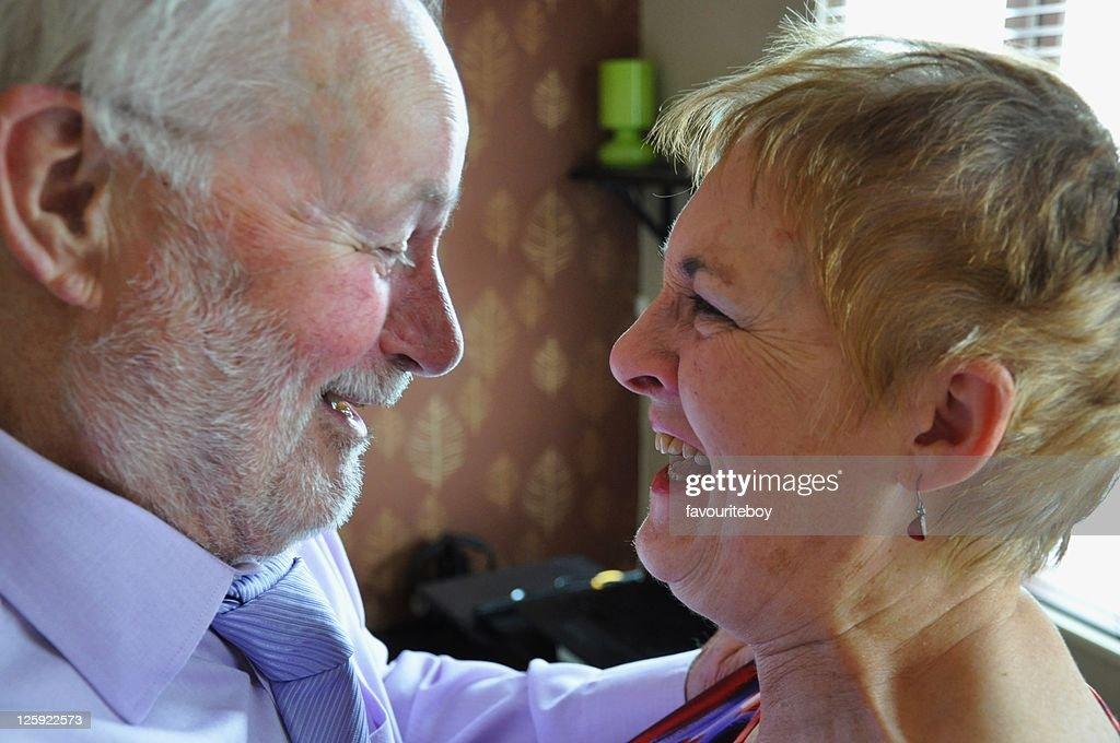 Senior couple laughing : Stock Photo