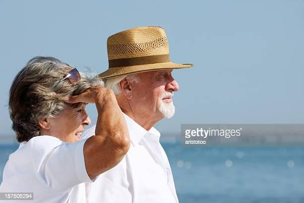 Couple Senior de la Distance